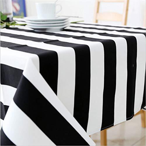 weiß gestreift Tischdecke Leinwand Tischdecke Esszimmer Tischtuch ()