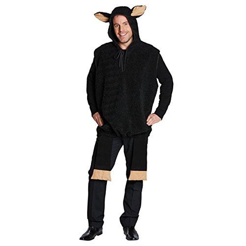 Kostüm Schaf Schwarzes - PARTY DISCOUNT NEU Plüsch-Kostüm schwarzes Schaf, Gr. S-M
