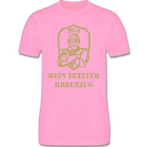 JGA Junggesellenabschied - Mein letzter Kreuzzug - Herren Premium T-Shirt Rosa