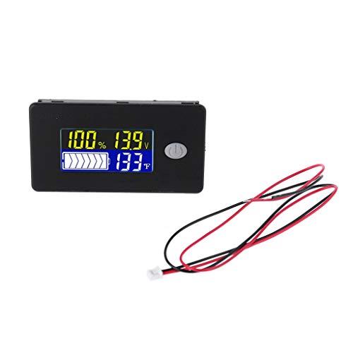 WERTYUPY 10-100V Batteriekapazit/ätsanzeige Voltmeter Universal Li-Ion Lifepo4 Blei S/äure