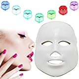 Chucalyn 7 Couleur a Conduit Le Masque Facial, Dispositif Facial de Soin de Peau, Instrument de beauté électronique de lumière Froide pour la Maison