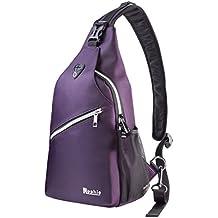 Rophie Sling Bag Pack Se adapta a la botella y al iPad Hombro en el pecho Crossbody Hiking Mochila Sport Bicycle Mochila Bolso School Daypack para hombres Mujeres Boy Girl Teenagers