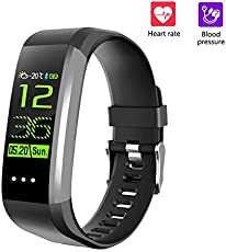 OPTA Unisex Aluminum-Alloy Bluetooth Fitness Smartwatch with Heart Rate Monitor Compatible with Android and IOS Smartphones (CK16-SB-051-Black-OPTA)
