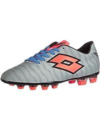 Lotto Sport SOLISTA IV FG, Chaussures de foot pour homme - Multicolore - Mehrfarbig (REF SIL/FL BLUE), 43.5 EU
