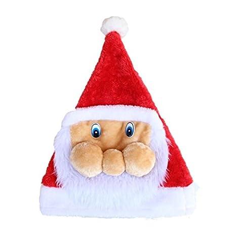 Chapeaux Joyeux Noël, Famille Casquettes de Mode de Noël pour Fête (40*30cm, D)