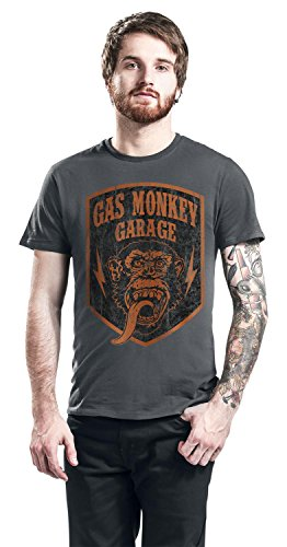 Gas Monkey Garage GMG Monkey Crest T-Shirt charcoal Charcoal