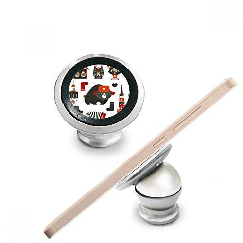 DIYthinker Bär Wodka Akkordeon Puppe Russland Kultur Land Magnetic-Telefon-Einfassung Auto-Armaturenbrett-Halter für Handy 360 Grad Drehung Geschenk (Kultur-puppen)