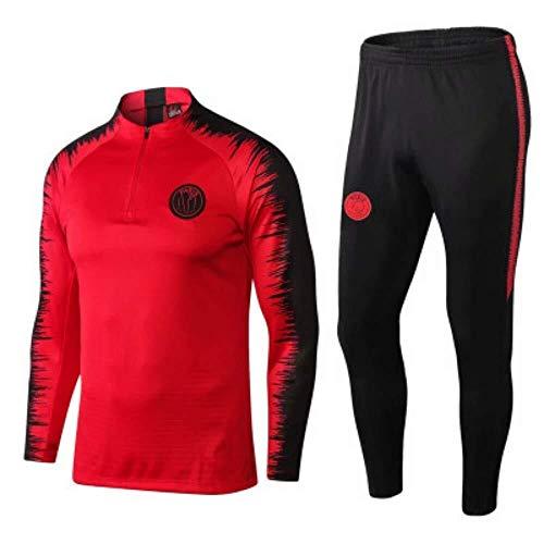 Fyj- Club Langarm-Fußballuniform, Jacke und Hose, Trainingsanzug, Jersey, Erwachsene, Kinder-Fußball, Uniform, Spiel-, Wettkampf-Trainingsanzug, 1, Large -