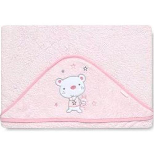 pirulos 00713014–maxicapa, Design Bär Star, Pink, 100x 100cm