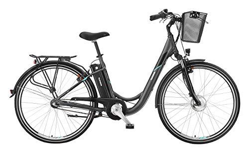 Telefunken E-Bike 28 Zoll Elektrofahrrad - Rücktritt & 3-Gang Shimano Nabenschaltung, Pedelec Citybike Alu mit Fahrradkorb, 250W und 10Ah, 36V Sitzrohrakku, RC745 Multitalent