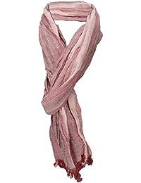 TigerTie gecrashter Schal in altrosa einfarbig Gr 180 x 50 cm