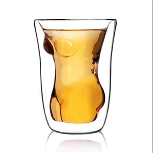 Körper menschliches Glas Doppelt Schichten Schönes Klarglas Innovator -
