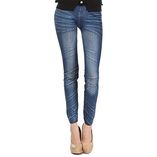 DODOING Leggings Jeggings, Damen Skinny Jeggings Jeans Hohe Taille Stretchy Slim Denim Leggings Nahtlose Yoga Hose