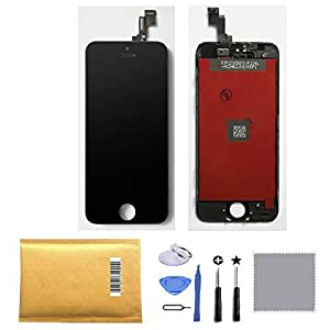 Retina LCD Touch Screen Digitizer Glass Replacement Full Assembly for iPhone 5S (Black)
