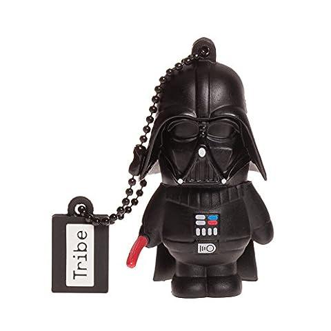 Tribe Disney Star Wars Darth Vader (Dark Vador) Clé USB 16 Go Fantaisie Pendrive USB Flash Drive 2.0 Originale Stockage Memoire, Idee Cadeau Figurine 3D, Stockage USB en PVC avec Porte-Clés –