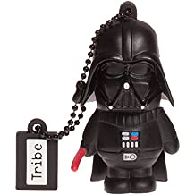 Tribe Disney Star Wars Darth Vader - Memoria USB 2.0 de 16 GB Pendrive Flash Drive de goma con llavero, color negro