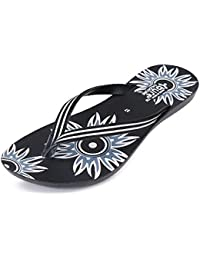 Zenwear Walking Slipper Flip Flop for Women,Black