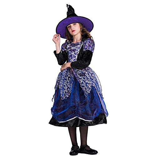 YouN Novelty Funny,Girls Costumes Witch Tutu Skirt Cosplay Dress Cap Halloween Outfit Set ()