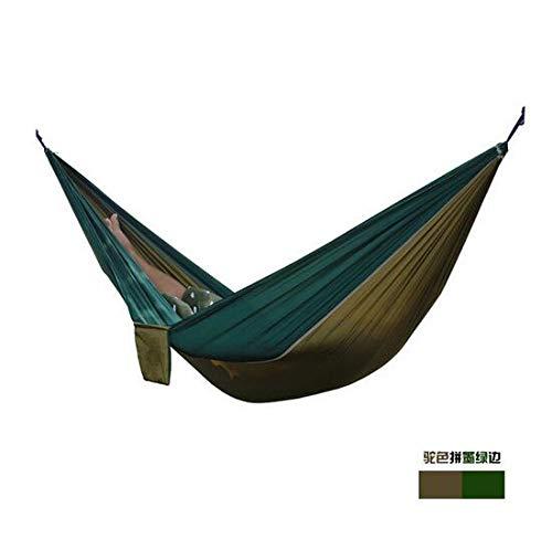 MEICHEN 24 Color 2 Personas Paracaídas portátil Hamaca Camping Supervivencia Jardín Caza Ocio Viajes Doble Persona Hamak,R