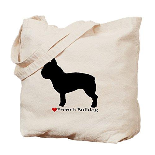 (CafePress–Französische Bulldogge Silhouette–Leinwand Natur Tasche, Reinigungstuch Einkaufstasche)