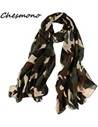 HITSAN INCORPORATION Women s Military Style Scarf Camouflage Printed Shawl  Long Lightweight Thin Super Soft Cozy Scarf 6bc85dc1266