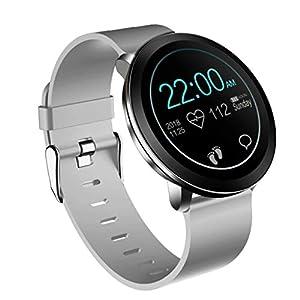 A-Artist Smartwatch Wasserdicht IP68 1,3 Zoll Bildschirm Sport Uhr Fitness Tracker,Schrittzähler Uhr,Schlaftracker,Stoppuhr Anruf SMS Whatsapp Beachten für IOS Android Handy