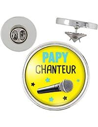 Pin s Papy Chanteur - Micro - Humour Idée Cadeau Homme Grands Parents  Anniversaire Fête Pins Bouton 78e79cde13f