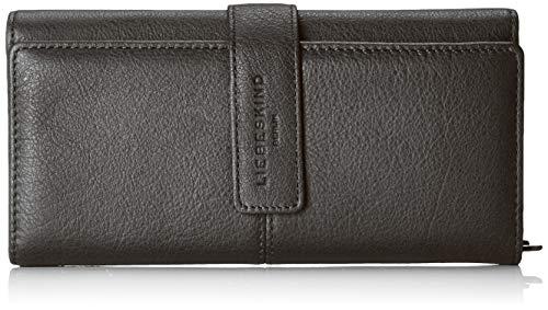 Liebeskind Berlin Damen Basic Slg Leoni Wallet Medium Geldbörse, Schwarz (Black), 3.0x10.0x19.0 cm - Leder Damen-medium Wallet