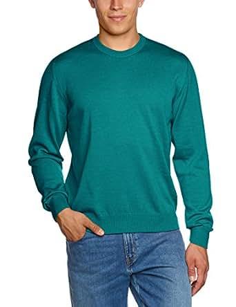 Maerz Herren Pullover 490500, Einfarbig, Gr. X-Small (Herstellergröße: 48), Grün (aqua green 277)