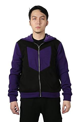 Hommes Déguisement Sweat à Capuche Pull Costume Cosplay Hiver Noir Violet Vêtements Sweatshirt pour Adultes