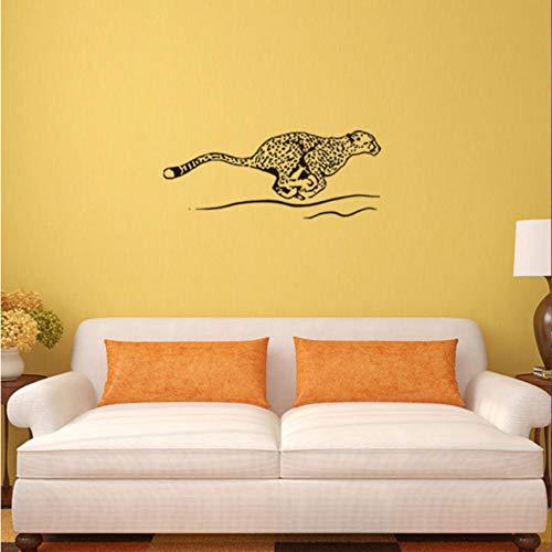 Hwhz 57X32 Cm Kinderzimmerdekoration Animal Flying Leopard Wandaufkleber Wasserdichter Aufkleber Aus Pvc (Leopard Flying)
