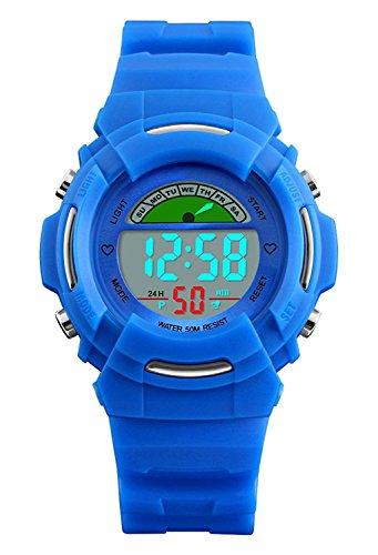 Niños Digital Relojes para niños Deportes al Aire Libre para niños-5ATM Resistente al Agua...