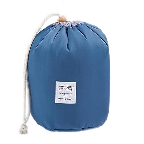 Hippolo Wasserdichte Make-up-Tasche Reise-Kit Organizer Badezimmer-Aufbewahrung Kosmetiktasche Tragetasche Kulturbeutel (Blau)