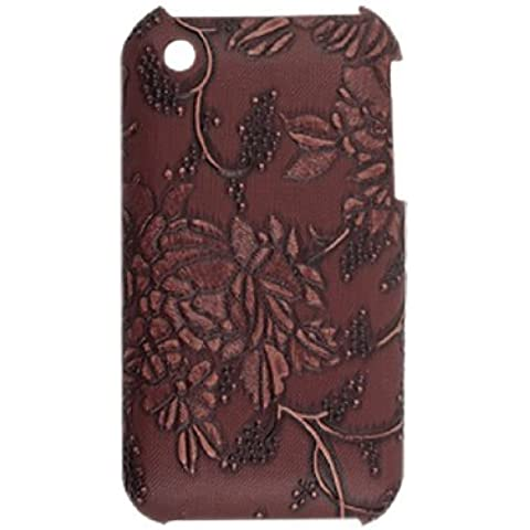 Water & Wood Brown Floral Case + Screen Guard for