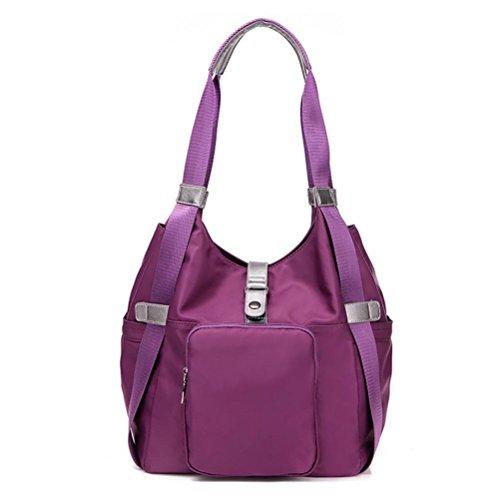 LINGE-Borsa a tracolla in nylon panno borse all'ingrosso borsa , black Purple