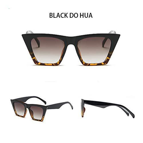 Taiyangcheng Übergroße quadratische Sonnenbrille Frauen Sonnenbrillen für Männer Brillen,schwarz Machen Hua
