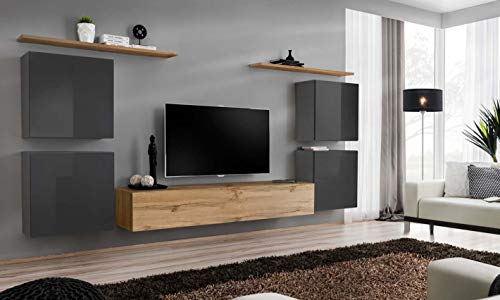 Juub switch iv wotan - parete da incasso per salotto o armadio, finitura lucida