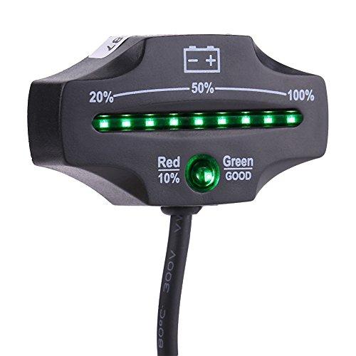 Qiilu 12V 24V LED Indicatore Batteria Metro per Auto Golf Moto Barca ATV Camion