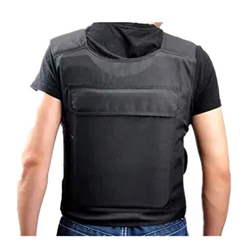 Lorenlli Tragbare Schutzweste mit 15 Schichten weichem Innenfutter Hochfester Schnittschutzmantel Stabbeständige Kleidung