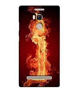 PrintVisa I Letter On Fire 3D Hard Polycarbonate Designer Back Case Cover for Gionee Elife E8