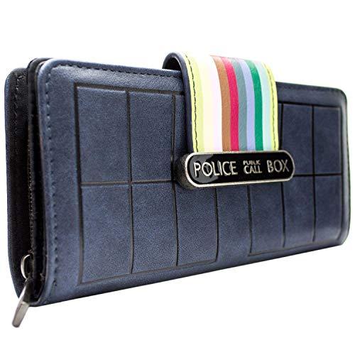 Doctor Who dreizehnte Tardis Streifen Portemonnaie Geldbörse Blau (Tardis Kostüm Box)