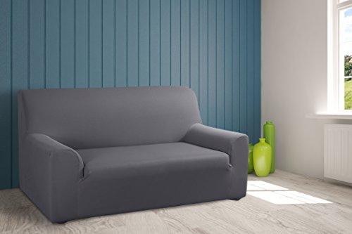 VELFONT – Bielastischer Sofabezug Roma - 2-Sitzer - Grau - verfügbar in verschiedenen Größen und Farben