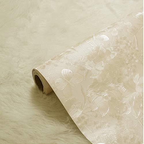 Tapete selbstklebende schlafzimmer dicke tapete silber dicke hundert blumen schmetterling gelb 5m -