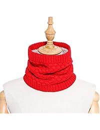 d7ce48fad5cb Manyo Boucle Écharpe Tube Femme de Portage Couleur Unie Hiver Automne Pur  Conception Mode Cadeau de