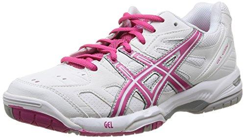 Asics Gel-Game 4, Chaussures de tennis femme Blanc (0119-White/Fuchsia/Lightning)