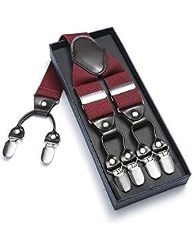JIERKU Tirantes Hombres Tirantes para hombres los apoyos de los hombres Forma Y con 6 clips ajustables y elásticos...