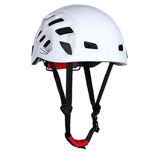 RMXMY Outdoor Helm Kletterhelm Kletterhelm Kletterhelm Höhlenforschung Abseilen Fluss Helm (Color : White) -