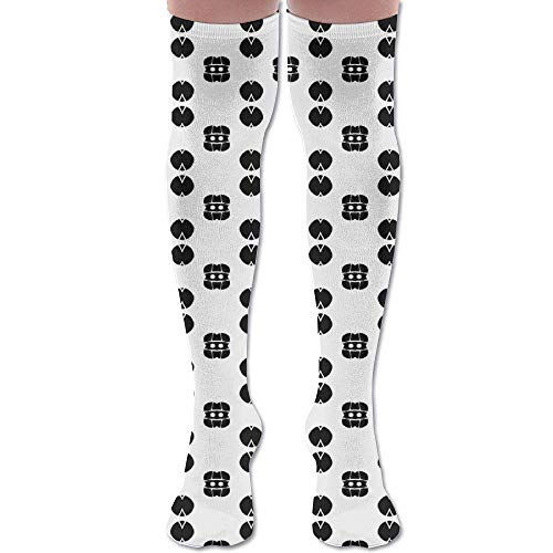 Kostüm Kinder Invisible Woman - Gped Kniestrümpfe,Socken Abstract Black and White Fabric (699) Athletic Tube Stockings Women's Men's Classics Knee High Socks Sport Long Sock Length 50CM