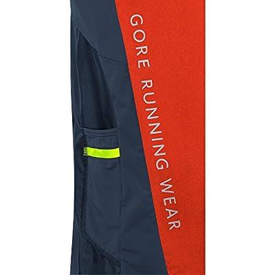GORE RUNNING WEAR Herren Kurzarmlaufshirt, Super Leicht, Winddicht, GORE WINDSTOPPER, FUSION GWS Shirt, Größe S, Orange/Schwarz, SWAFUS