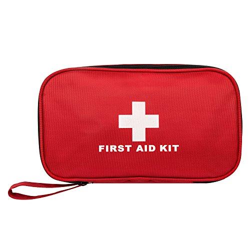 Canway Erste Hilfe Set mit 184 teilig Auto Zuhause Resie Kinder für Auto Verbandskasten für Auto Verbandtasche Erste Hilfe Kasten Tasche Verbandtasche für zu Hause, im Büro, Auto oder auf Reisen (Rot)